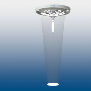LED Leuchte mit weißem Leuchtfeld zur Veranschaulichung